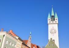 塔在Straubing,巴伐利亚 免版税库存图片