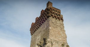 塔的古老废墟 Theodosy的康斯坦丁标志的塔 股票视频