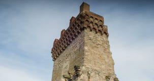 塔的古老废墟 Theodosy的康斯坦丁标志的塔 股票录像