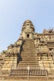 塔的台阶,吴哥窟,暹粒,柬埔寨 库存照片