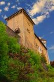 塔的阿讷西城堡特殊性 免版税库存照片