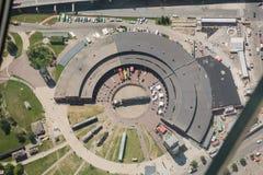 从塔的鸟瞰图在多伦多安大略 免版税库存图片