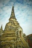 `塔的`古老遗骸在Ayuthaya古迹,泰国 图库摄影