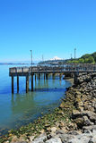 塔科马,码头江边。 Ruston方式。 免版税库存图片