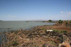塔纳湖视图,埃塞俄比亚 图库摄影