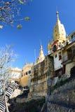 塔翁Kalat修道院 登上Popa 曼德勒地区 缅甸 免版税库存照片