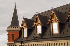 塔葡萄酒屋顶在斯德哥尔摩 库存图片