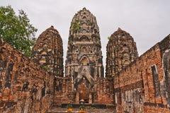 塔设置了sukhothai三 库存照片