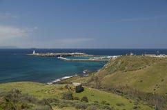 塔里法角,安大路西亚,西班牙的海岸的镇 库存图片