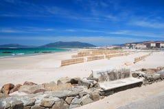 塔里法角,西班牙强劲的海岸  免版税库存照片