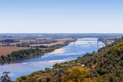 塔霍河(里约Tejo),最大伊比利亚半岛 免版税图库摄影