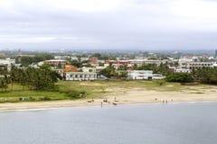 塔马塔夫市海岸线-马达加斯加 库存照片