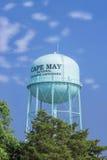 水塔,开普梅,新泽西,美国海手段  库存图片