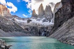 塔,托里斯del潘恩国家公园,智利 图库摄影