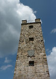 塔,被修建1922年,城市文西德尔 库存图片