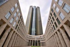 塔185在主要的法兰克福,德国 库存图片
