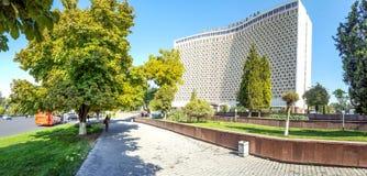 塔什干-旅馆乌兹别克斯坦视域,位于市中心 库存图片