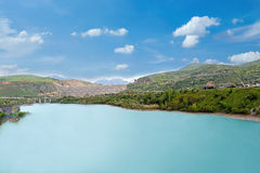 塔什干Chimgan水坝 库存图片