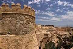 塔Alcazaba阿尔梅里雅西班牙 免版税库存照片
