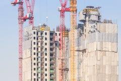 塔crain在蓝天的建筑大厦 免版税库存图片