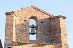塔Monteguiduccio响铃的细节  库存图片