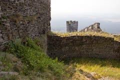 塔Panoramatic视图与墙壁的 图库摄影