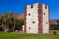塔Torre del conde在圣塞巴斯蒂安- La Gomera海岛- Cana 免版税库存照片