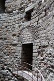 塔Yedikule堡垒内部细节  免版税图库摄影