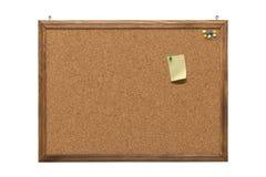 塞住有空的便条纸和图钉的委员会 免版税库存照片