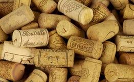 塞住法国酒 免版税库存图片