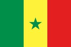 塞内加尔国旗和少尉 库存例证