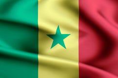 塞内加尔旗子例证 向量例证