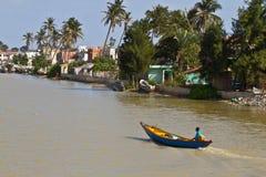 塞内加尔河在圣路易,非洲 库存照片