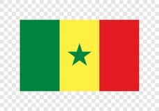 塞内加尔-国旗 向量例证