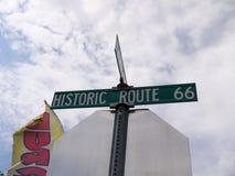塞利格曼路线的66一个镇 塞利格曼在亚瓦派县,亚利桑那,美国 免版税库存照片