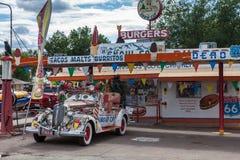 塞利格曼, ARIZONA/USA - 7月31日:雪汽车在塞利格曼亚利桑那 库存图片