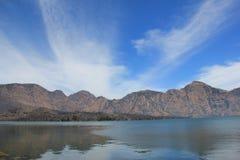 塞加拉阿纳克湖, Mt Rinjani,龙目岛 图库摄影