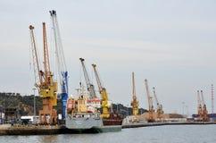 塞图巴尔海港在葡萄牙 免版税库存照片