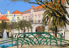塞图巴尔,葡萄牙的历史中心 库存图片