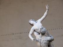 塞宾人妇女的雕塑,广场Vecchio,佛罗伦萨,意大利 库存照片