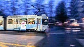 巴塞尔电车 免版税库存照片