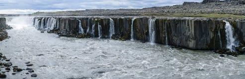 塞尔福斯瀑布,东北冰岛 免版税图库摄影
