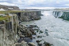 塞尔福斯瀑布,东北冰岛 免版税库存图片