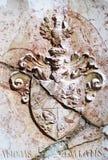 塞尔维亚中世纪纹章 库存照片