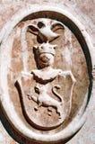 塞尔维亚中世纪纹章 免版税图库摄影