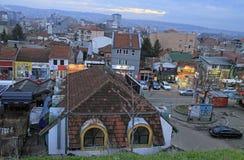 塞尔维亚城市Nis都市风景  库存照片