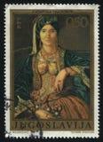 塞尔维亚服装的妇女Katarina Ivanovic 免版税库存图片