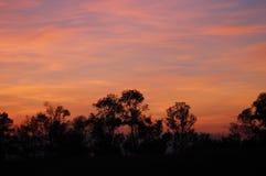 塞尔维亚的风景有温暖的日落的 免版税库存图片