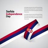 塞尔维亚美国独立日传染媒介设计例证 库存例证