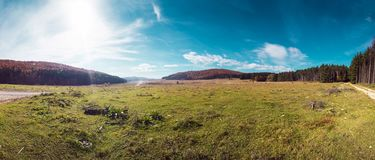 塞尔维亚自然全景风景  免版税库存图片